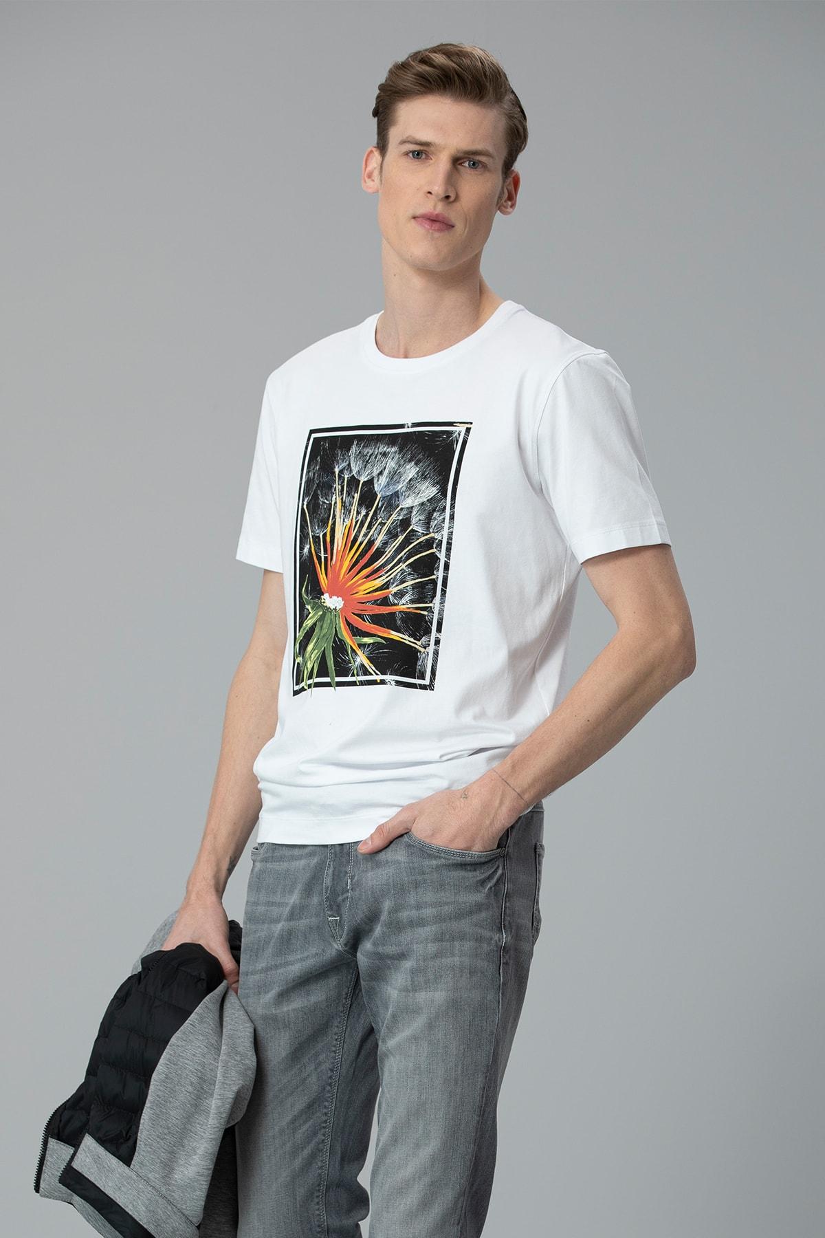 Lufian Felıta Modern Grafik T- Shirt Beyaz 3