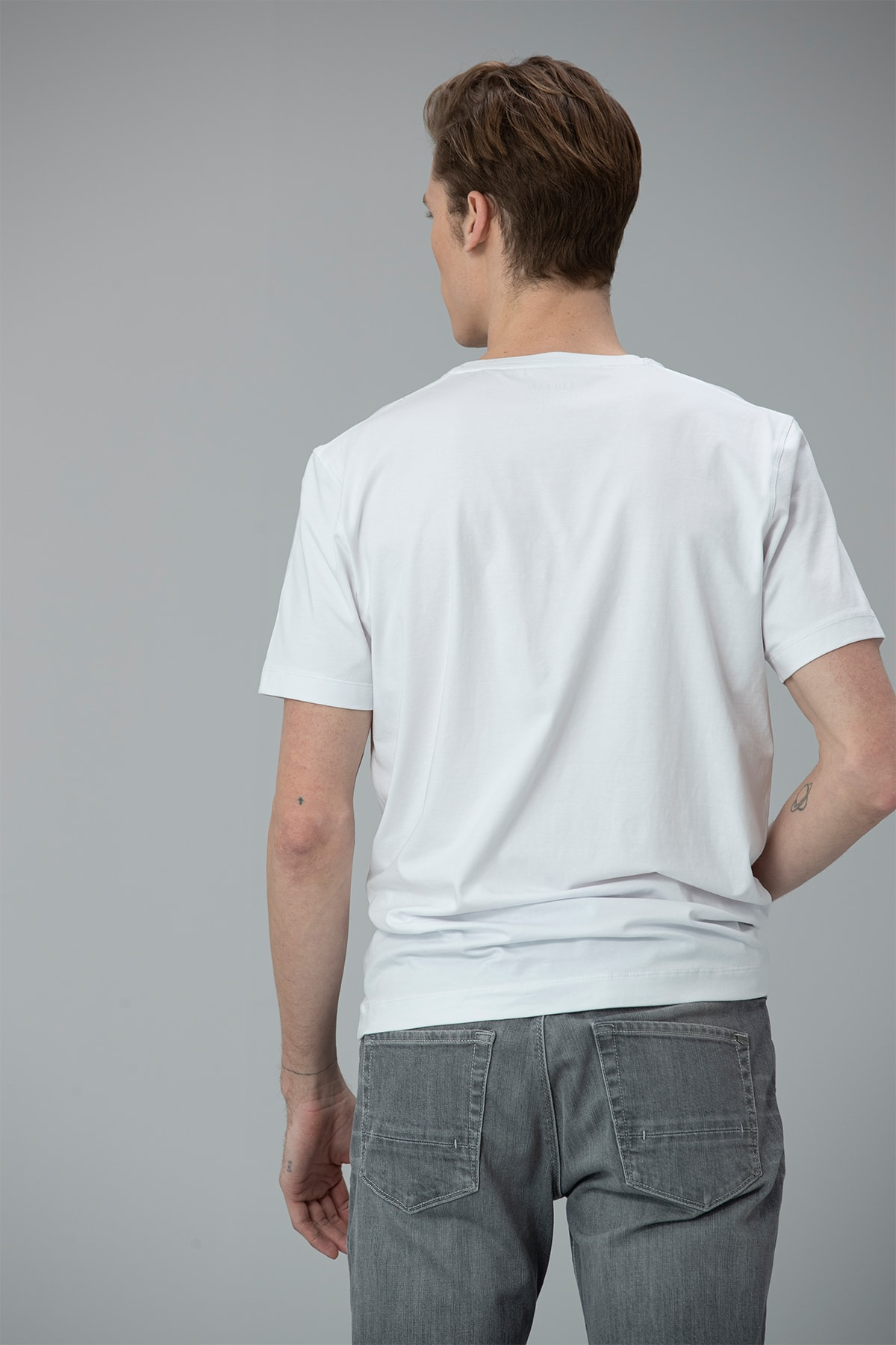 Lufian Felıta Modern Grafik T- Shirt Beyaz 4