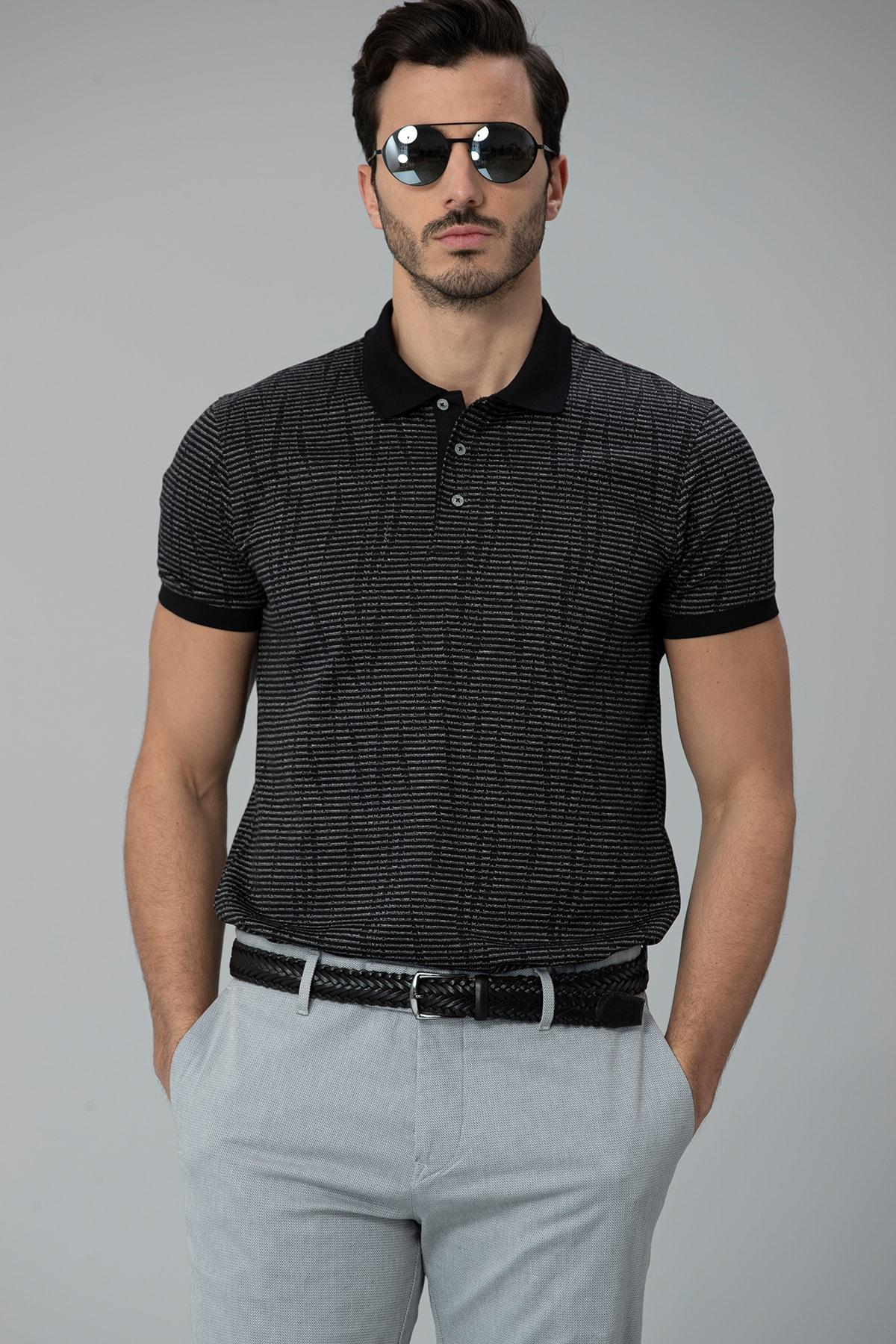 Lufian Como Spor Polo T- Shirt Siyah 0