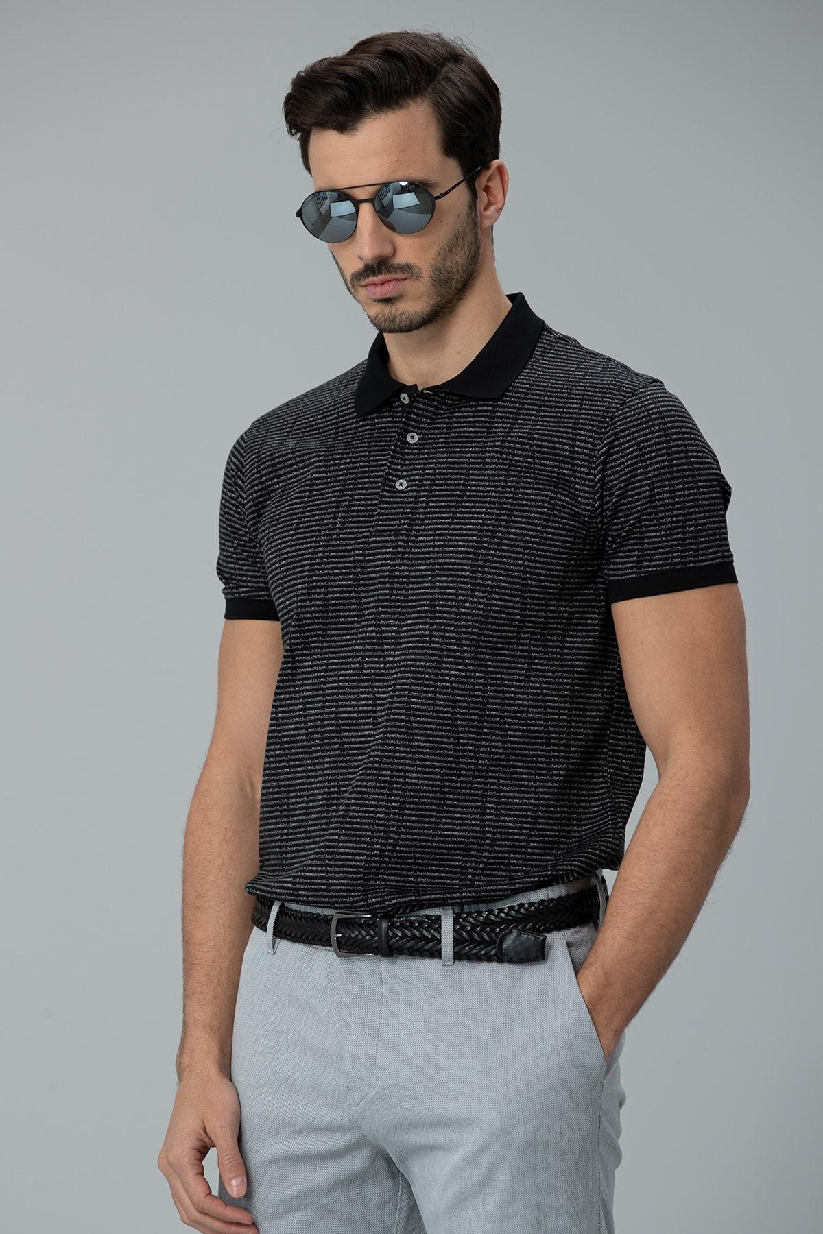 Lufian Como Spor Polo T- Shirt Siyah 1