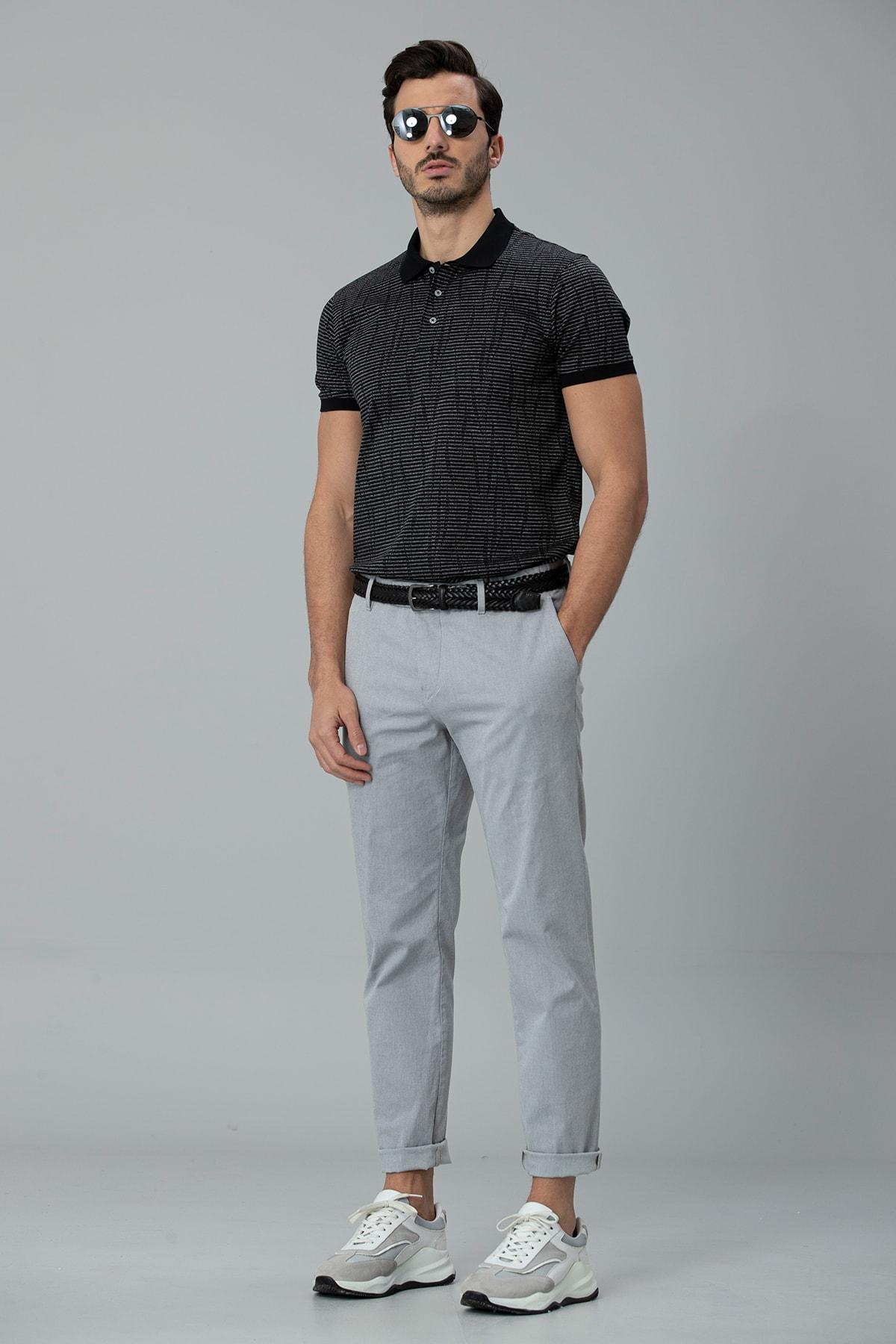 Lufian Como Spor Polo T- Shirt Siyah 2