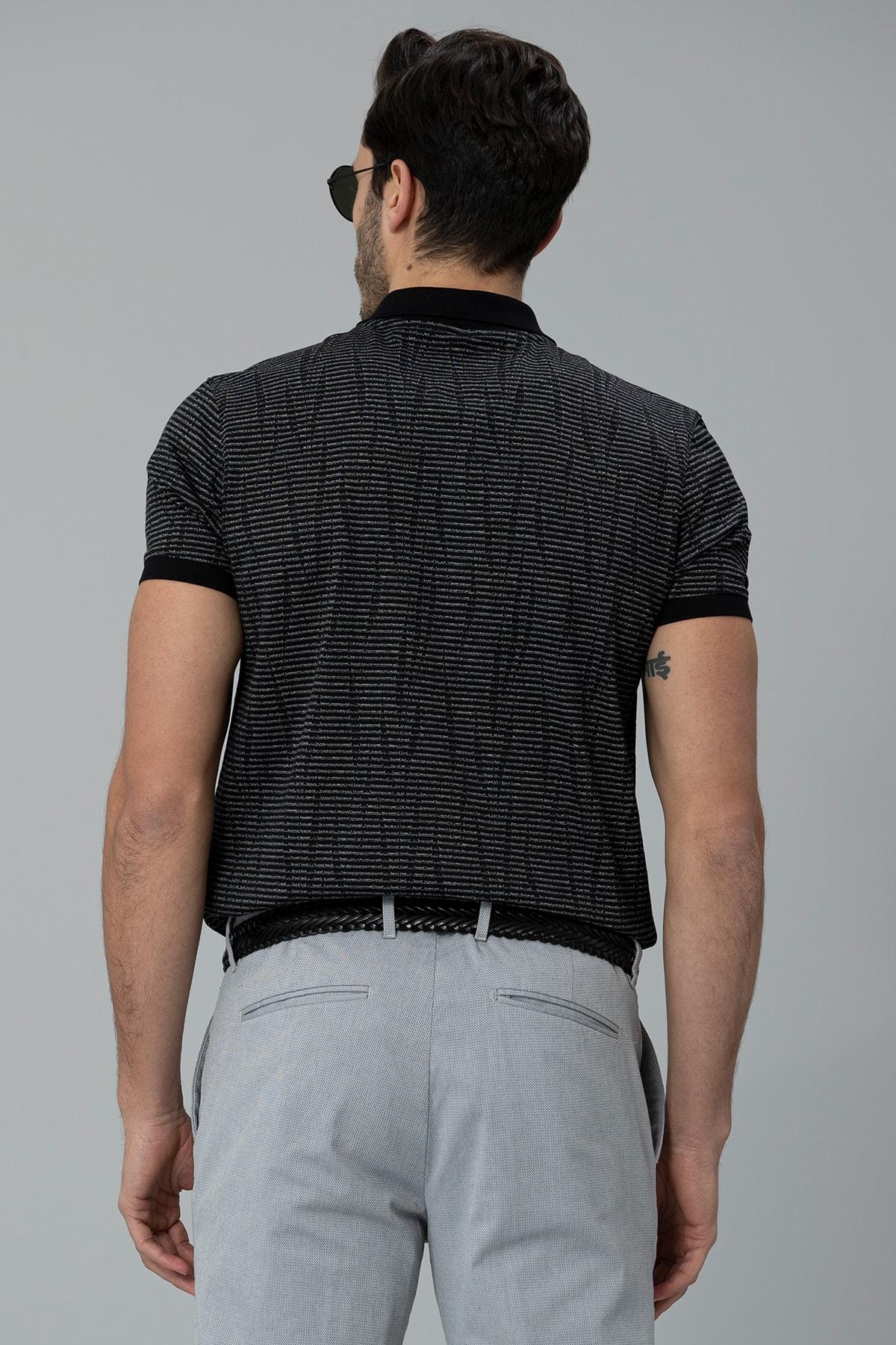 Lufian Como Spor Polo T- Shirt Siyah 3