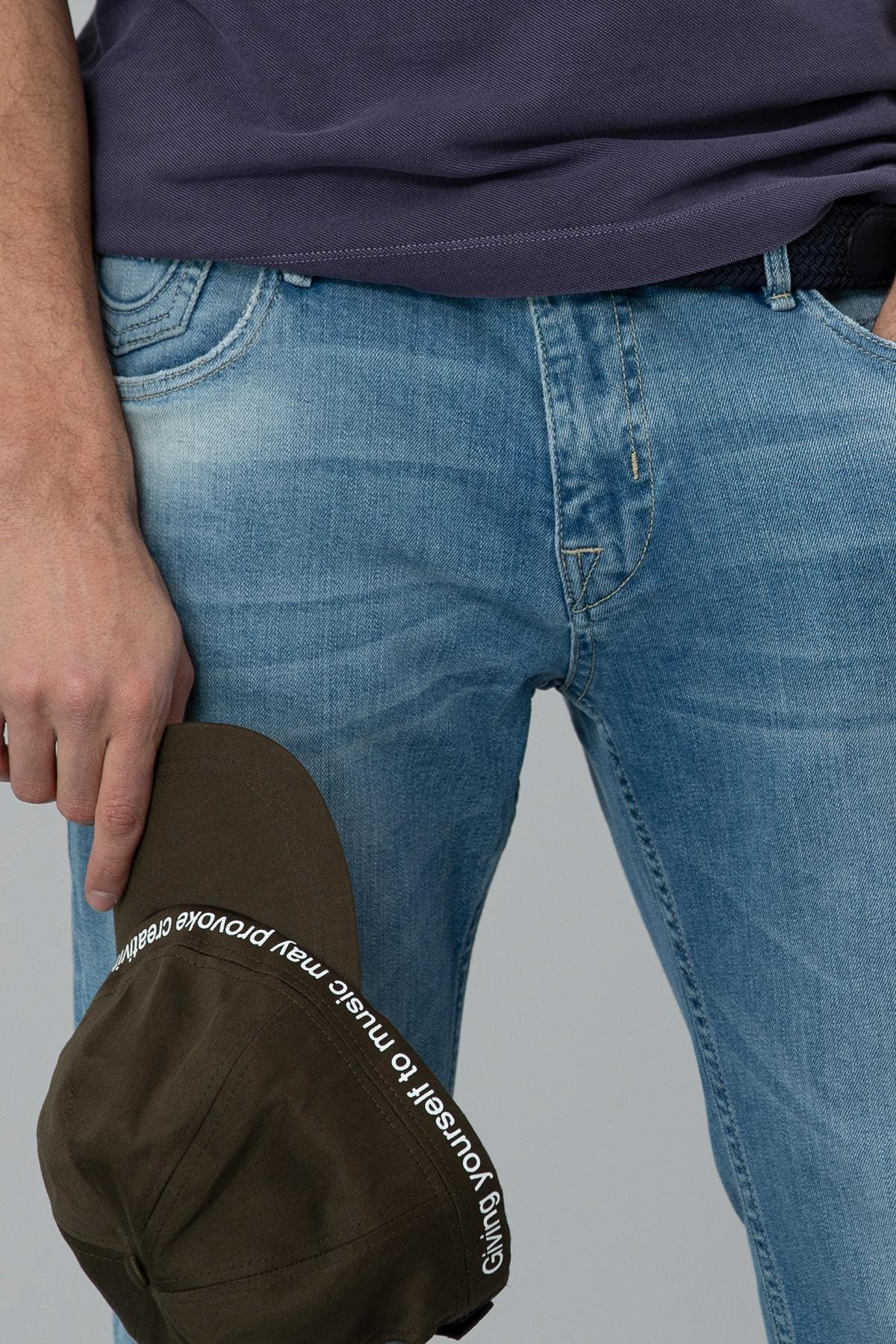 Lufian Ege Smart Jean Pantolon Regular Fit Gök Mavi 1
