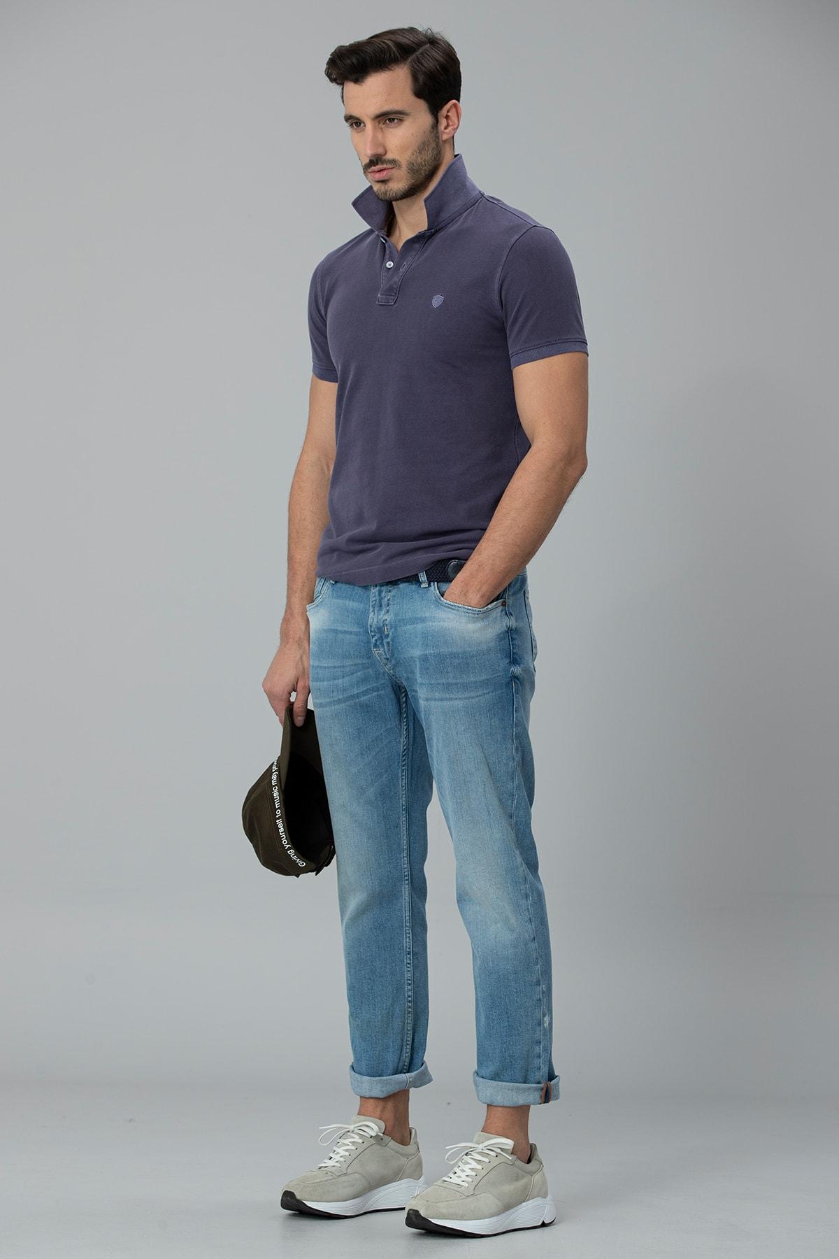 Lufian Ege Smart Jean Pantolon Regular Fit Gök Mavi 3