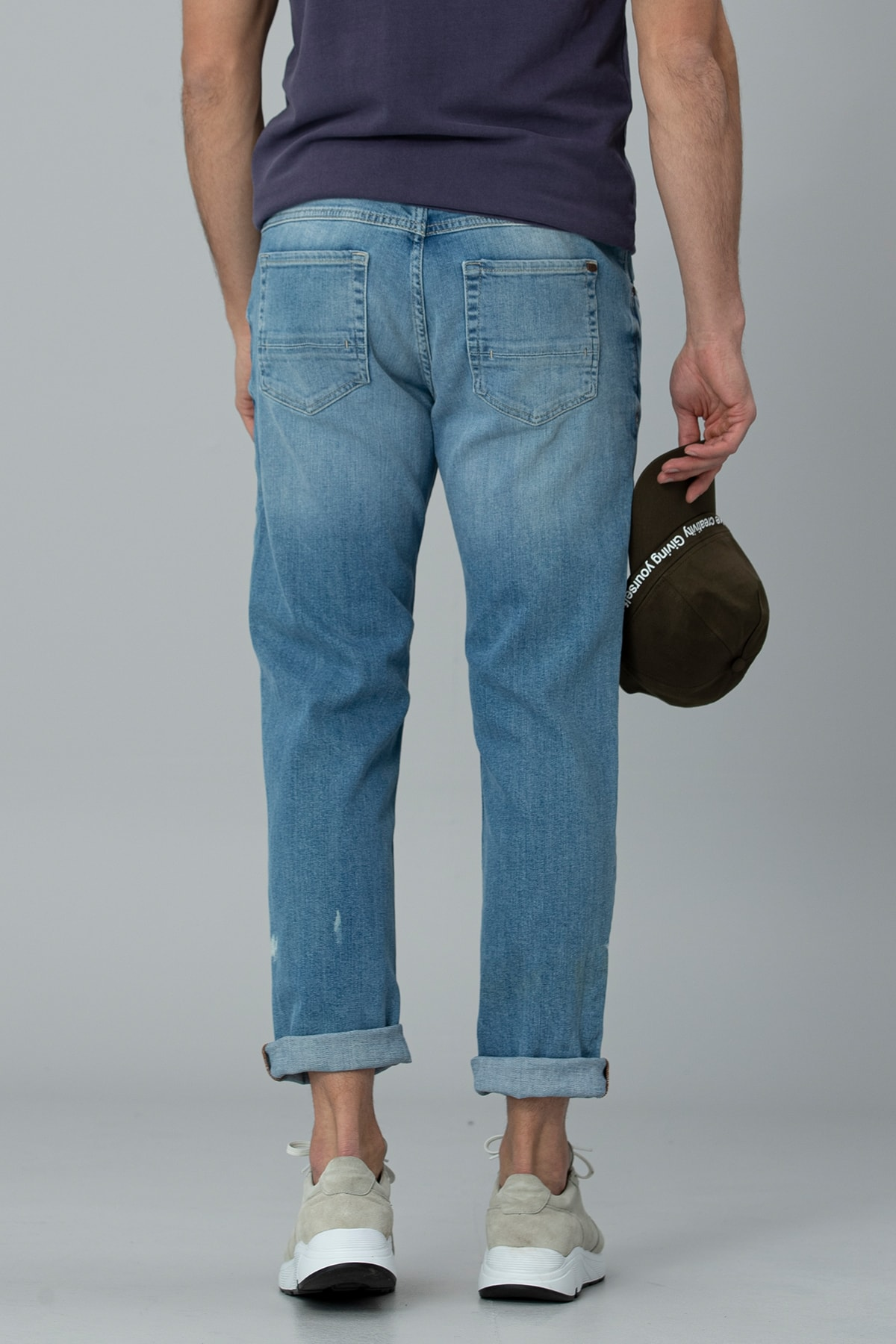 Lufian Ege Smart Jean Pantolon Regular Fit Gök Mavi 4