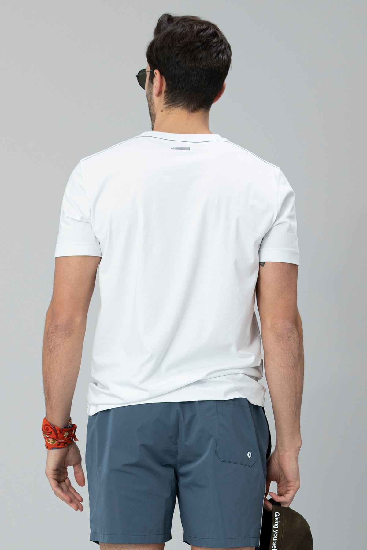 Lufian Lukki Modern Grafik T- Shirt Beyaz 3