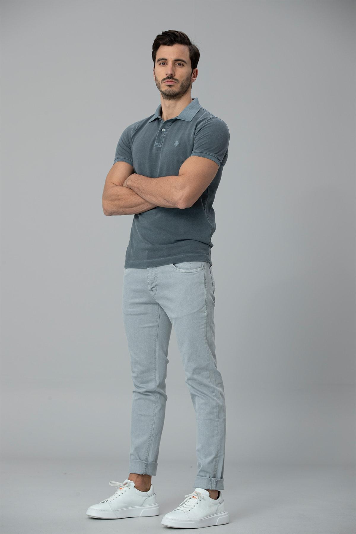 Lufian Kropi Spor 5 Cep Pantolon Slim Fit Gri 0