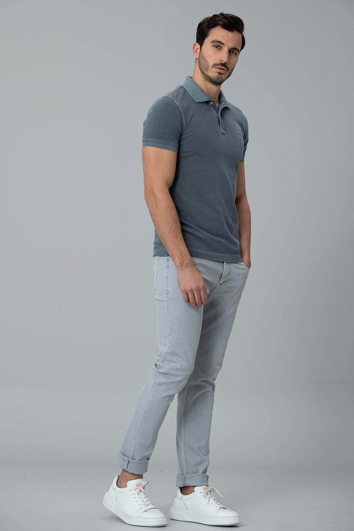 Lufian Kropi Spor 5 Cep Pantolon Slim Fit Gri 2