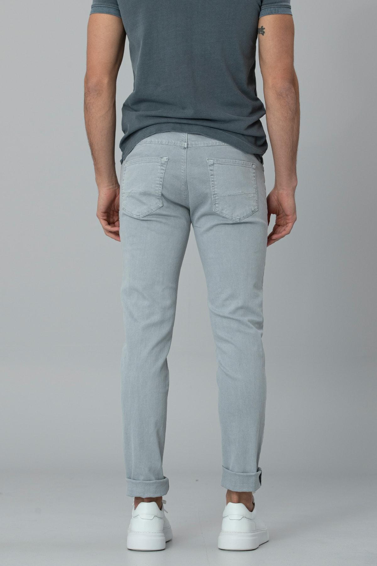 Lufian Kropi Spor 5 Cep Pantolon Slim Fit Gri 3
