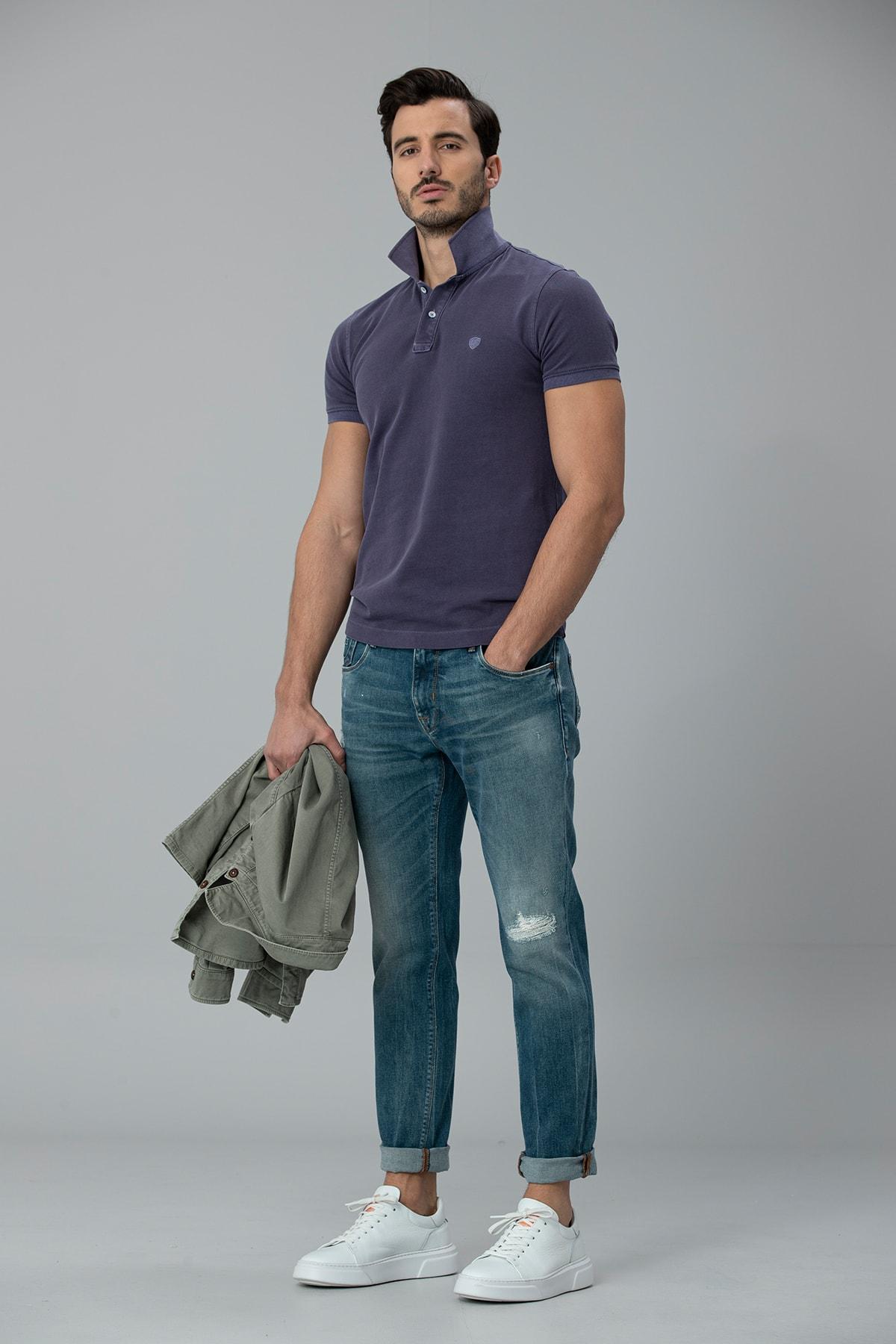 Lufian Geny Smart Jean Pantolon Slim Fit Açık Mavi 3