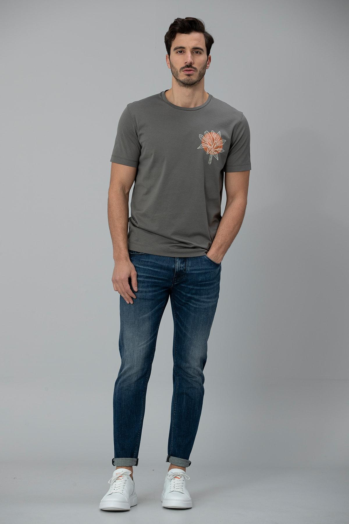 Lufian Aury Smart Jean Pantolon Slim Fit Koyu Mavi 0