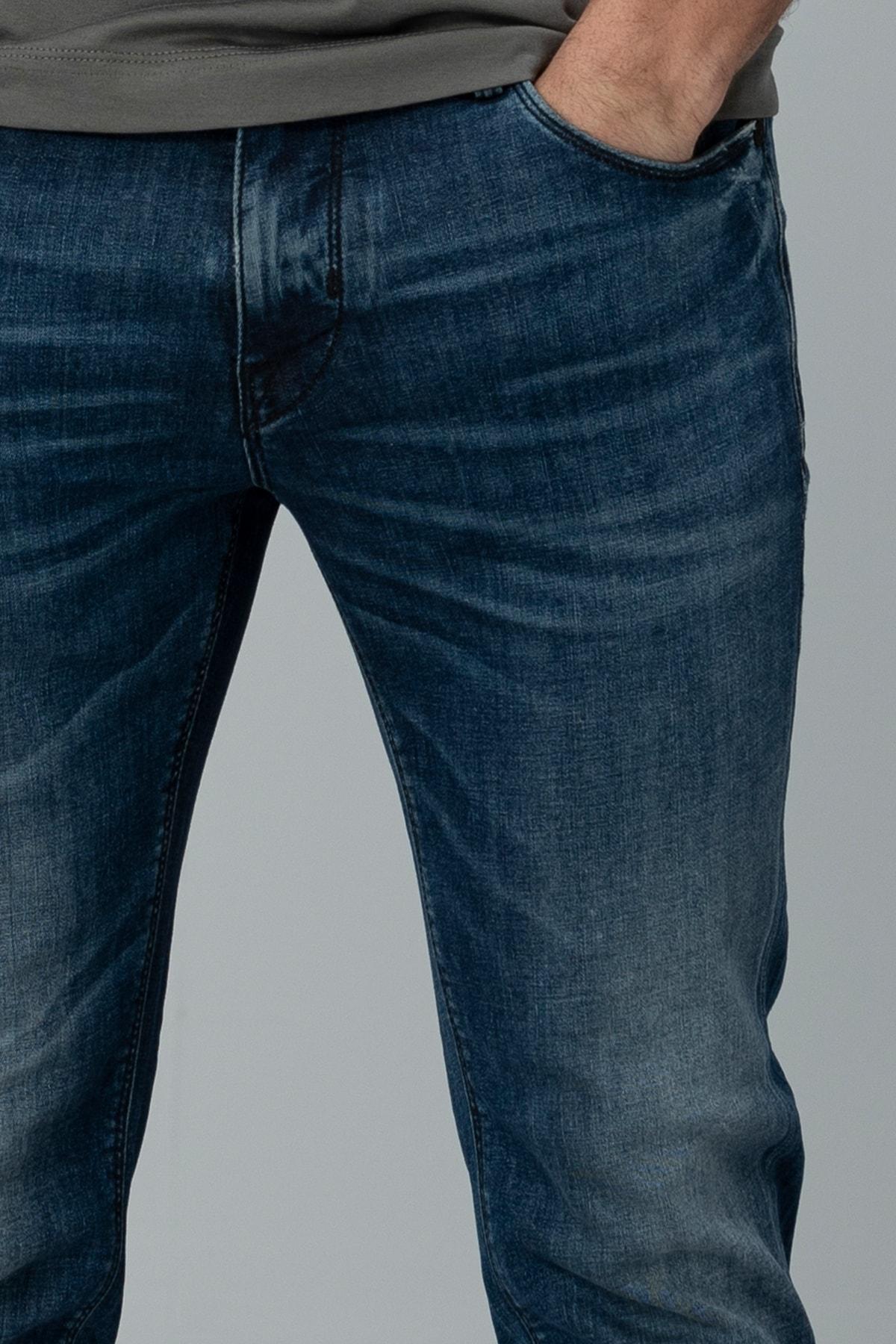 Lufian Aury Smart Jean Pantolon Slim Fit Koyu Mavi 1