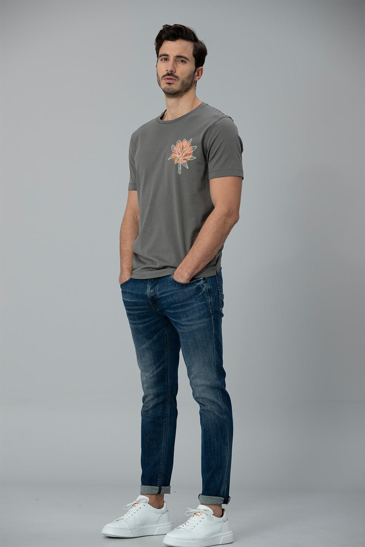 Lufian Aury Smart Jean Pantolon Slim Fit Koyu Mavi 2