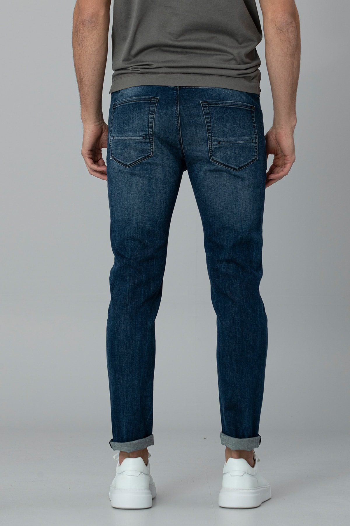 Lufian Aury Smart Jean Pantolon Slim Fit Koyu Mavi 3