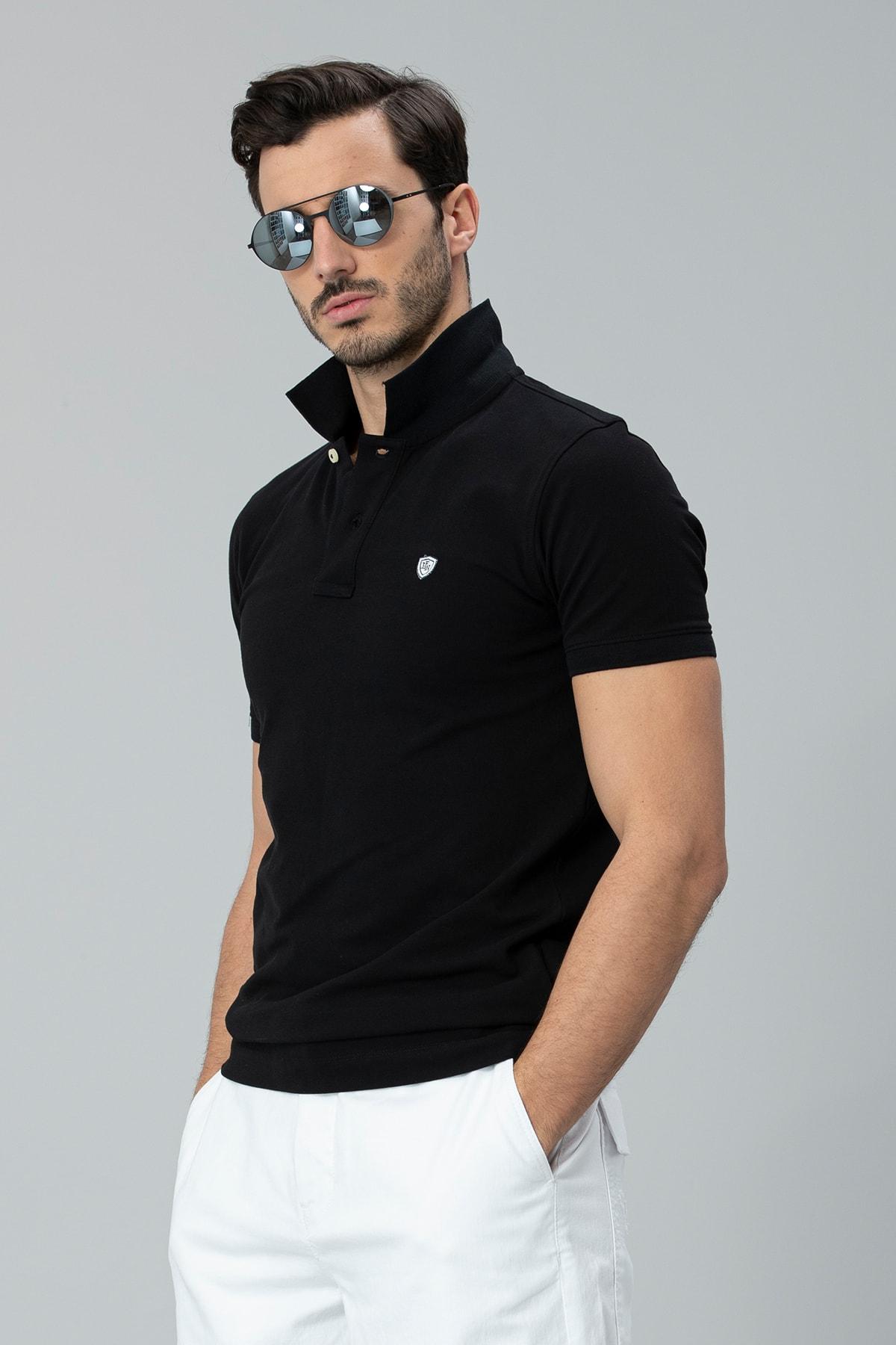 Lufian Laon Spor Polo T- Shirt Siyah 3
