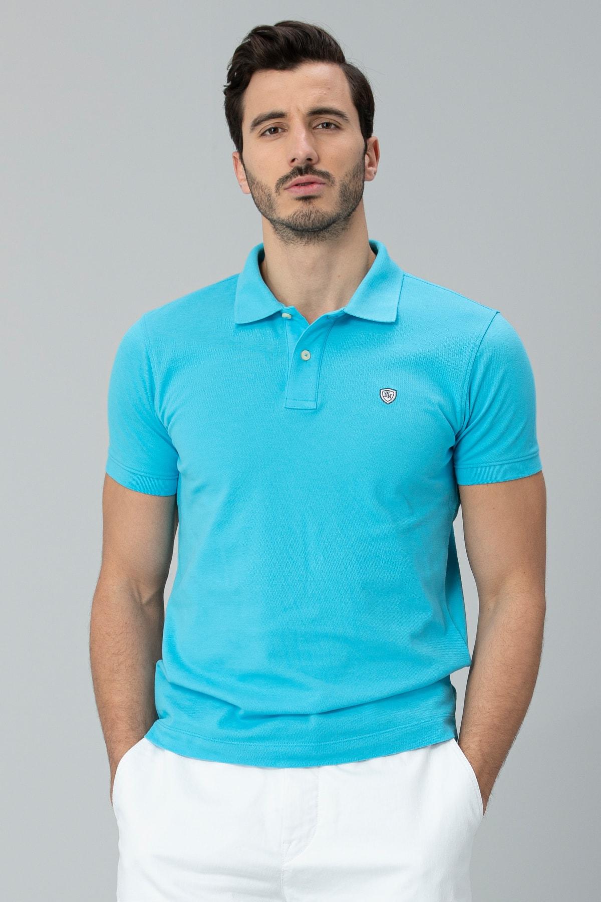 Lufian Laon Spor Polo T- Shirt Turkuaz 2