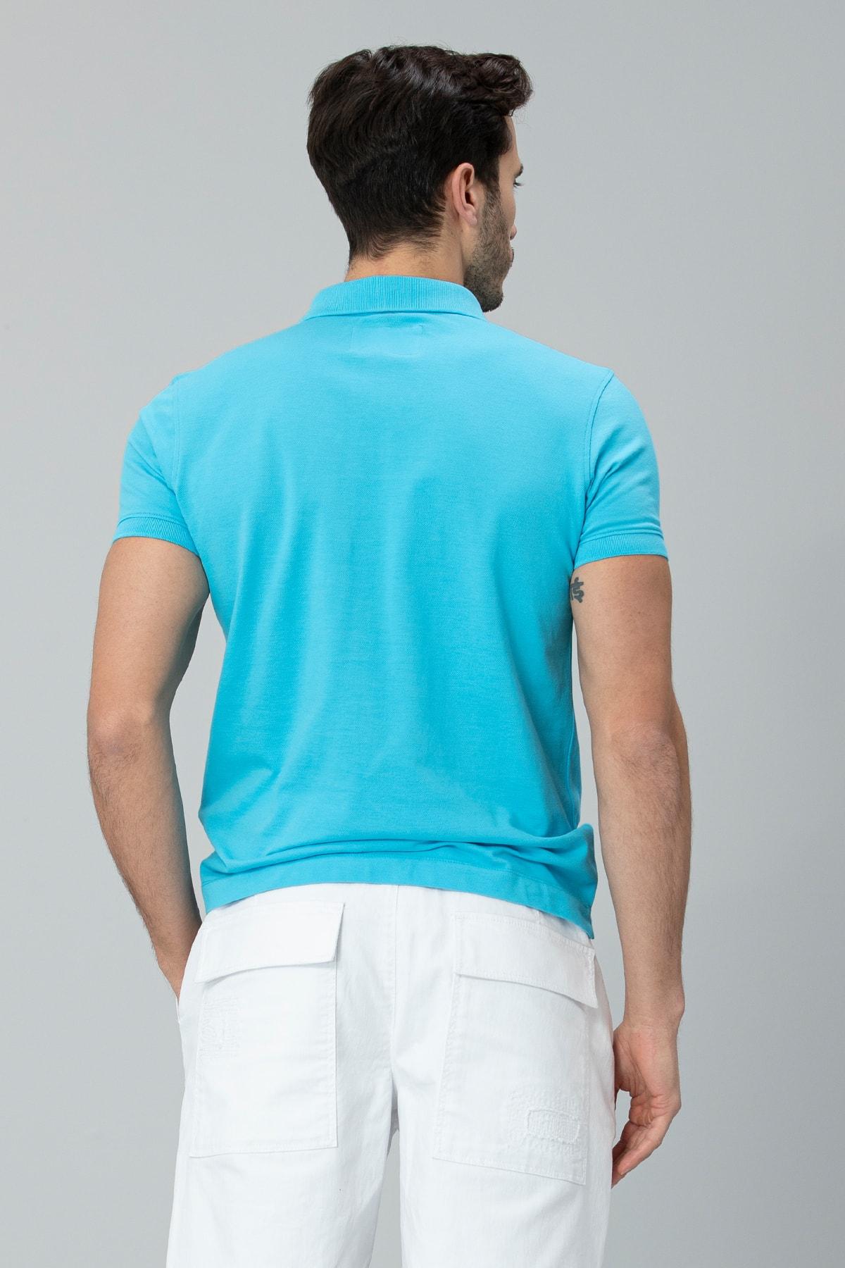 Lufian Laon Spor Polo T- Shirt Turkuaz 3