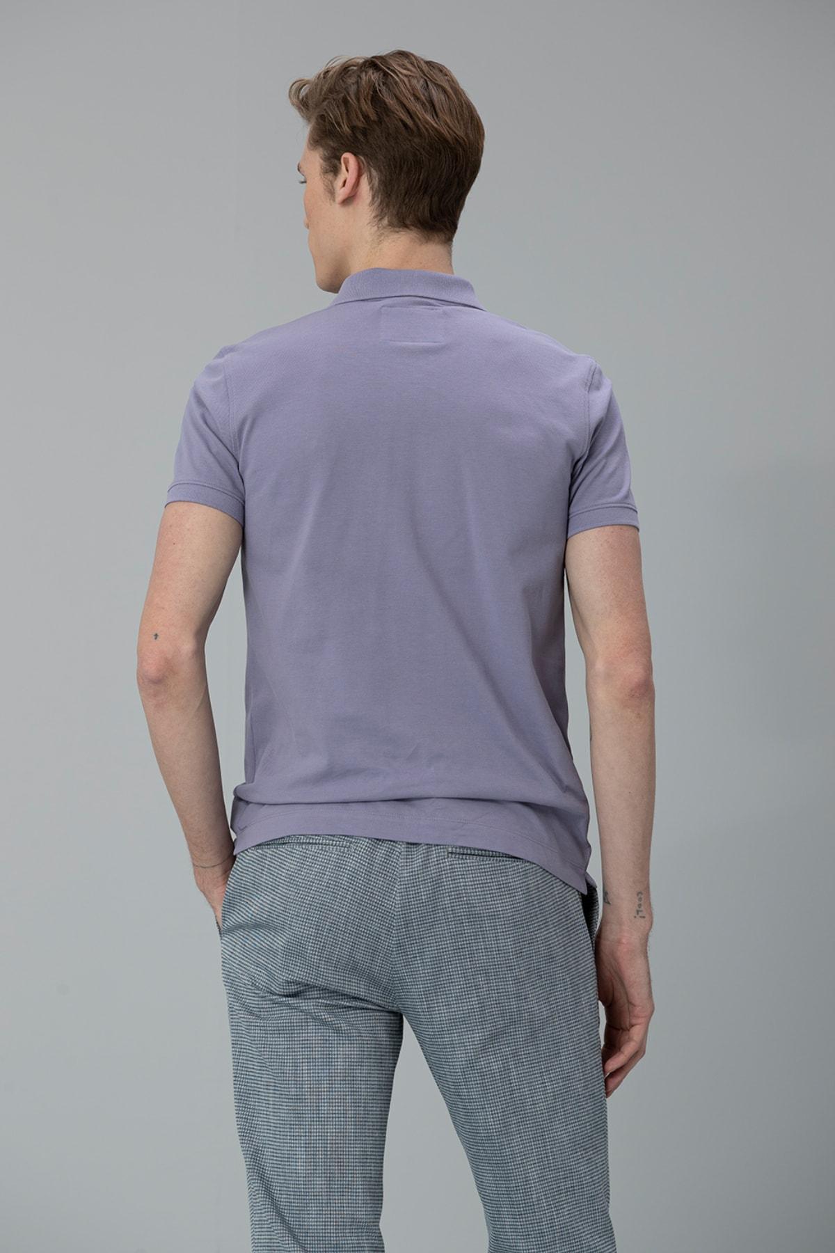 Lufian Laon Spor Polo T- Shirt Lila 4