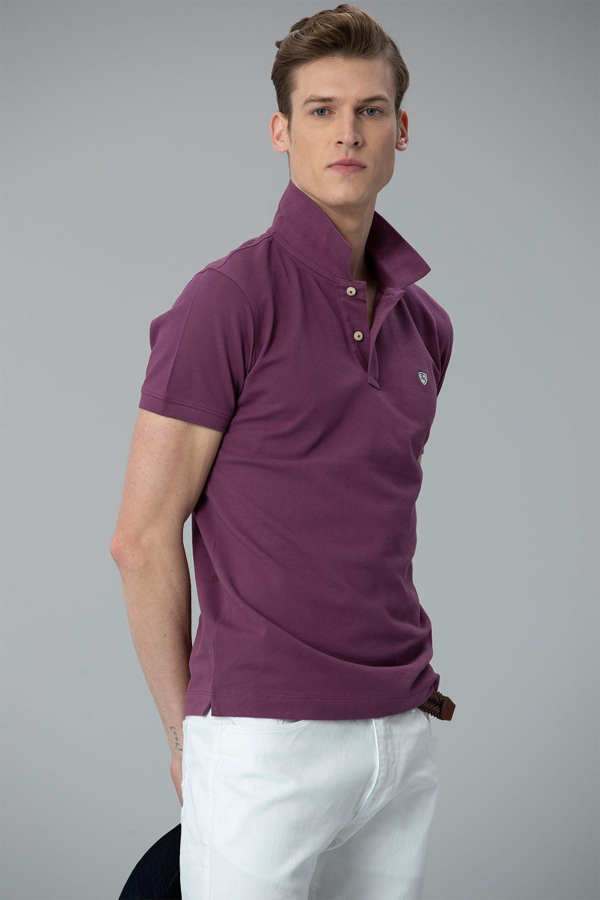 Lufian Laon Spor Polo T- Shirt Mor 1