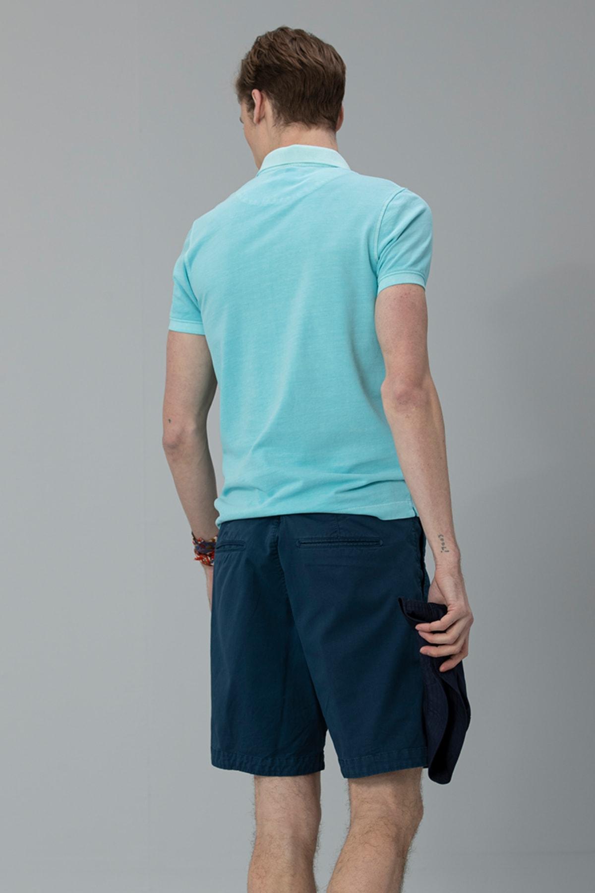 Lufian Vernon Spor Polo T- Shirt Aqua 4