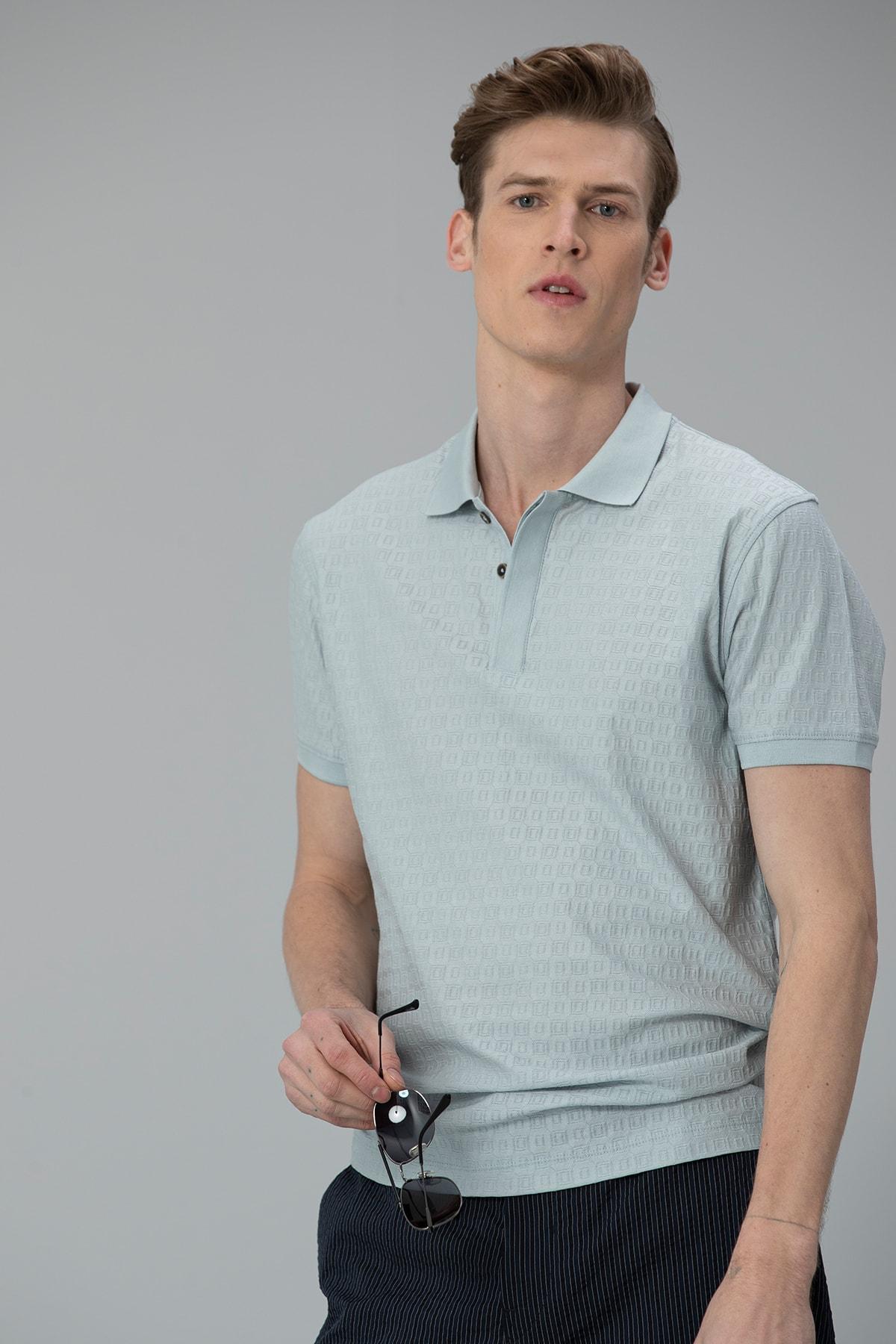 Lufian Clar Spor Polo T- Shirt Açık Nane 1