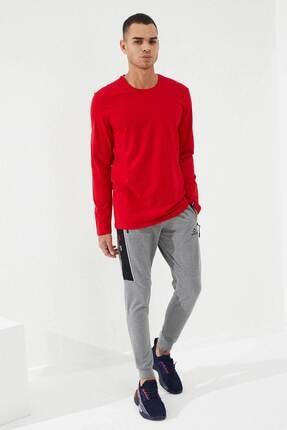 Tommy Life Erkek Kırmızı O Yaka Klasik  Sweatshirt 3