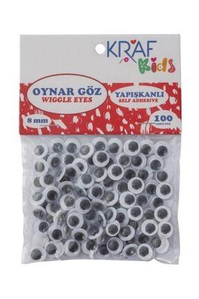 KRAF Kids Oynar Göz 8 Mm 100`lü 0