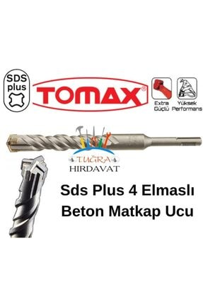 Tomax Sds Plus 4 Elmas Beton Duvar Delme Matkap Ucu 6x210 0