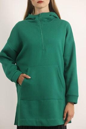 Carlamia Kadın Yeşil Bel Bağcıklı Şortlu Takım 3