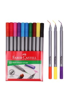 Faber Castell Grip Finepen Keçe Uçlu Kalem 0.4 Mm 0