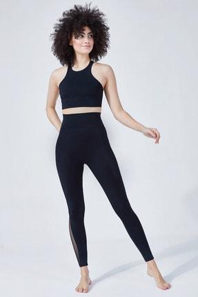 VAYU Siyah Hera Halter Yaka Tül Detaylı Yoga & Pilates Sporcu Sütyeni 3