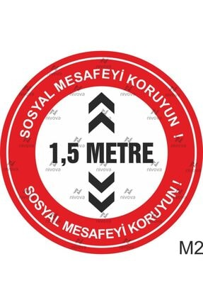 3M Sosyal Mesafe Yer Sticker 1
