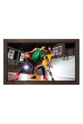 Deniz Çerçeve & Tuval Basketbol Tablosu Kahverengi Ahşap Çerçeve-40x60 0