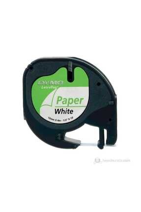 Dymo Şerit Let.kağıt 12mmx4m Beyaz 721510 59421 1
