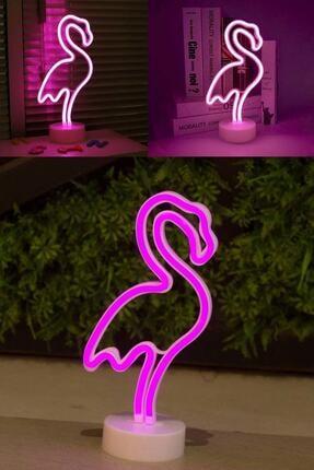 Patladı Gitti Dekoratif Flamingo Neon Led Gece Lambası 1