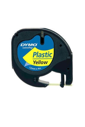 Dymo Şerit Let.plastik 12mmx4m Sarı 721620 59423 1