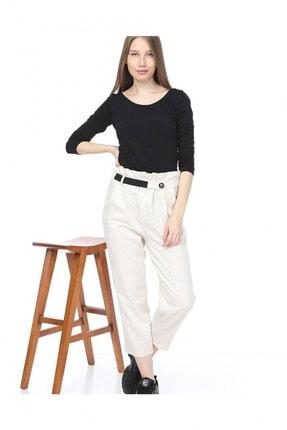 Giysimburada Kadın Ekru Beli Ayarlı Pantolon 1