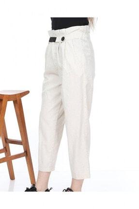 Giysimburada Kadın Ekru Beli Ayarlı Pantolon 3
