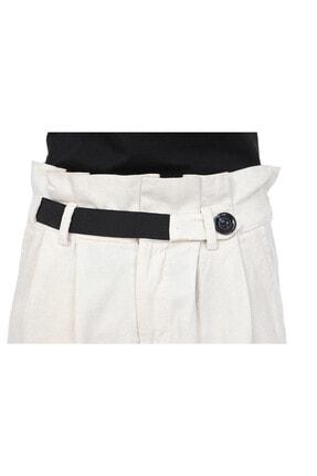 Giysimburada Kadın Ekru Beli Ayarlı Pantolon 4