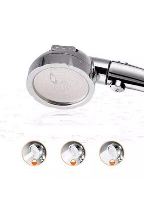 moda dadya Duş Başlığı Yüksek Basınç Krom 3 Sprey Ayarı Açık/kapalı Durak Anahtarı Su Tasarruflu 2