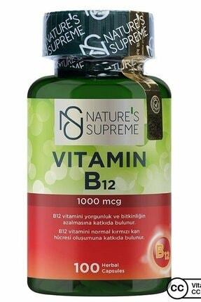 Natures Supreme Vitamin B12 1000 Mcg 100 Kapsül 0