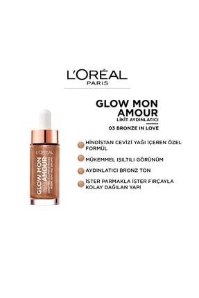 L'Oreal Paris Likit Aydınlatıcı - Glow Mon Amour Droplet Highlight 03 Bronze In Love 3600523706747 1