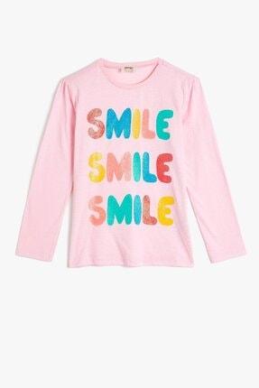 Koton Kız Çocuk Pembe Baskılı T-Shirt 0