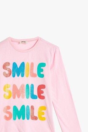 Koton Kız Çocuk Pembe Baskılı T-Shirt 1