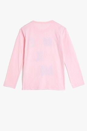 Koton Kız Çocuk Pembe Baskılı T-Shirt 2