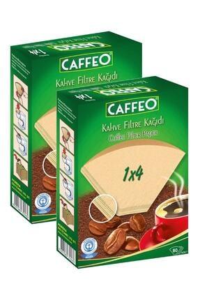 Caffeo Filtre Kahve Kağıdı 1x4 80'li 2 Paket 160 Adet 0