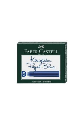 Faber Castell Dolma Kalem Kartuşu 6lı - Royal Blue 0