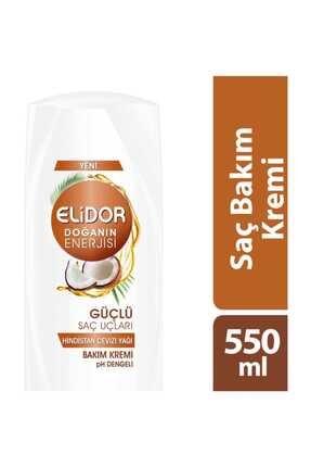 Elidor Doğanın Enerjisi Güçlü Saç Uçları Hindistan Cevizi Saç Kremi 550 ml 0