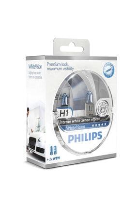 Philips Whitevision H1 Beyaz Halojen Ampulü +%60 Fazla 12258whvsm 0