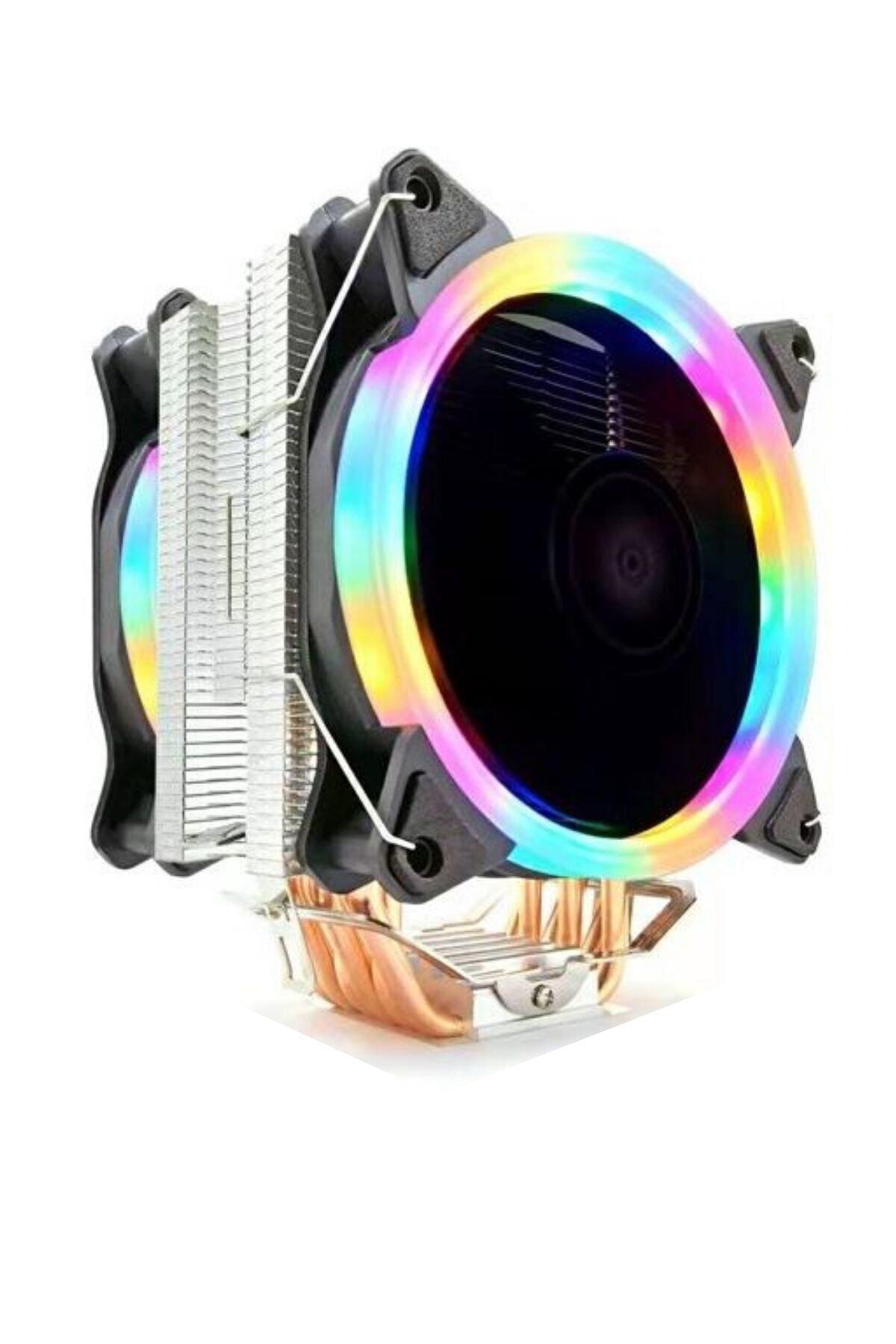 T6 Ultra Soğutma 6 Bakır Kanallı Rainbow Cooler Fan